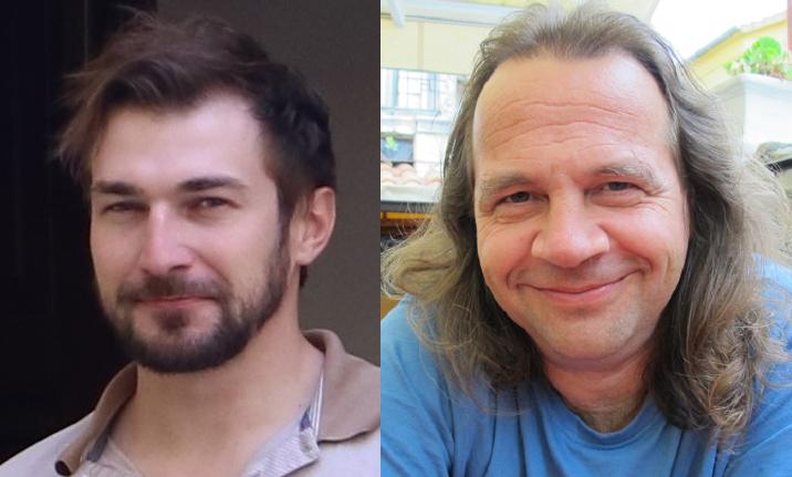 Vojtech Bartošik (vasemmalla) ja Michal Roškaňuk