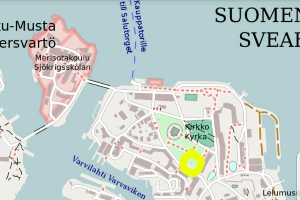 Suomenlinnan kartta.