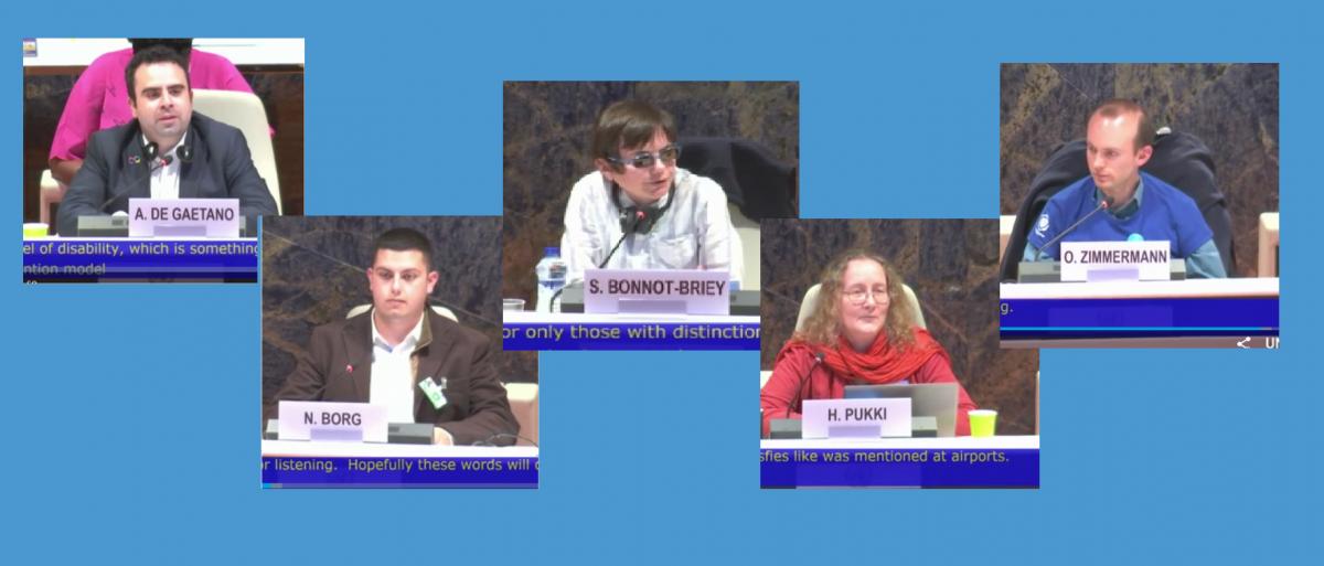 Autismikirjolaiset panelisteina YK:n vammaisten henkilöiden oikeuksien komitean tapahtumassa 1.4.2019